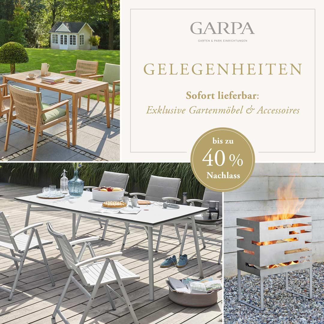 Garpa Gelegenheiten - Gartenmöbel zu Sonderpreisen