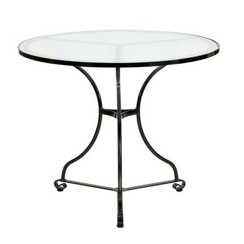 fontenay tisch rund 90 glasplatte garpa. Black Bedroom Furniture Sets. Home Design Ideas