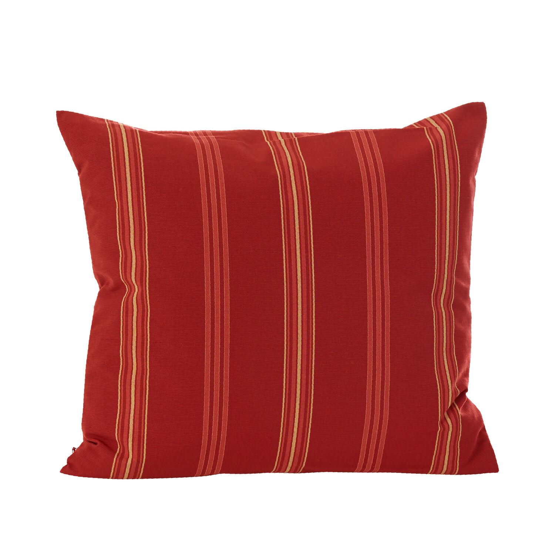 Kissen mit Federfüllung Dessin Cranberry Stripes  Garpa