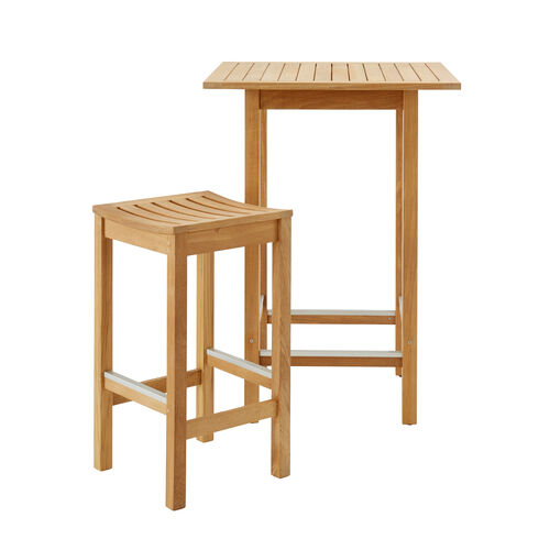 Set barm bel teak 2 hocker und tisch garpa for Barhocker 3d download