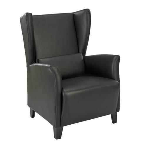 marlowe ledersessel schwarz garpa. Black Bedroom Furniture Sets. Home Design Ideas