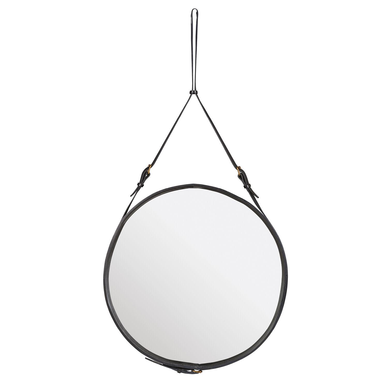 Adnet spiegel leder schwarz garpa - Spiegel orangerie ...