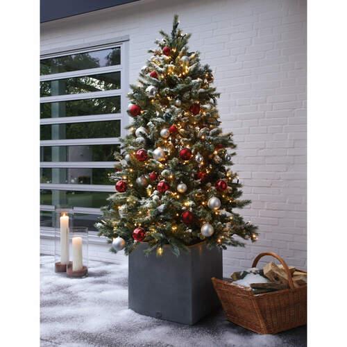 tannenbaum 180 cm inkl led lichterkette ohne dekoration garpa. Black Bedroom Furniture Sets. Home Design Ideas