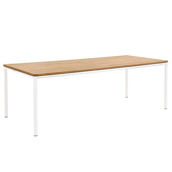 Portland Tisch Weiss 220 X 100 Tischplatte Teak Garpa