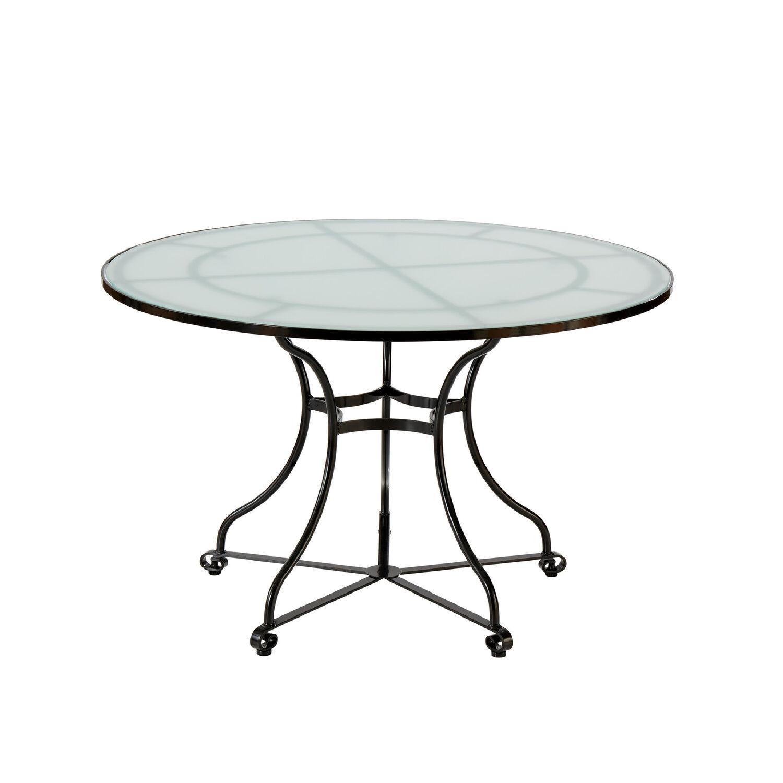 fontenay tisch rund 120 glasplatte garpa. Black Bedroom Furniture Sets. Home Design Ideas