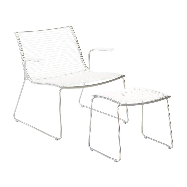 set pan sessel mit armlehnen und hocker wei garpa. Black Bedroom Furniture Sets. Home Design Ideas