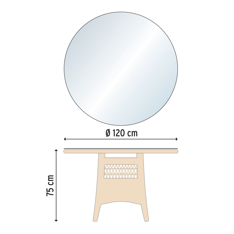 lodge tisch rund 120 garpa. Black Bedroom Furniture Sets. Home Design Ideas