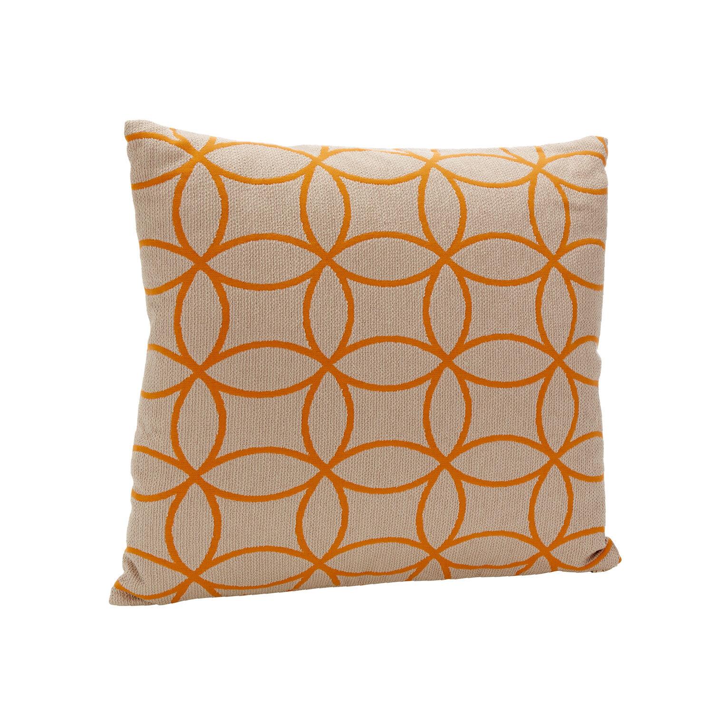 kissen mit federf llung dessin boccia beige orange garpa. Black Bedroom Furniture Sets. Home Design Ideas