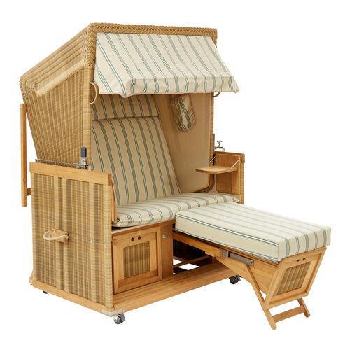 strandkorb gr n gestreift garpa. Black Bedroom Furniture Sets. Home Design Ideas